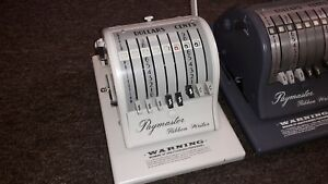 Paymaster 8000 Check Protector Writer W Free Ink Ribbon And Free Prefix