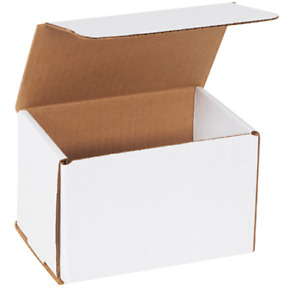 1 500 Choose Quantity 6x4x4 Corrugated White Mailers Packing Boxes 6 X 4 X 4