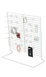 3 Countertop Peg Displays Wire Rack Jewelry Card Hanging White Stand 18 X 20