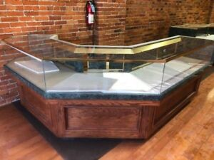 Oak Retail Show display Cases Jewelry Retail Custom Cabinets
