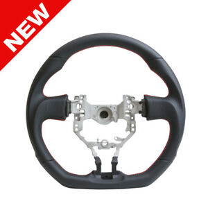 Handkraftd 2013 2017 Frs Brz D Flat Bottom Steering Wheel black W red Stitch