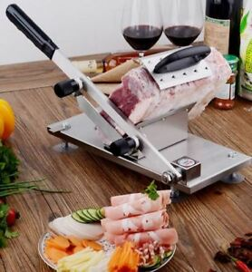 Frozen Meat Slicer Cheese Vegetables Ham Manual Stainless Steel Cleaver Cutter