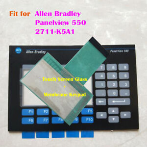 For Allen Bradley Panelview 550 2711 k5a1 Touch Screen Glass Membrane Keypad