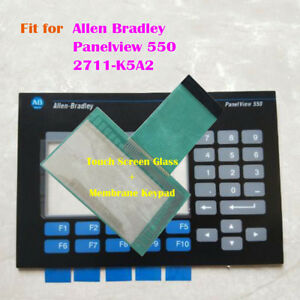 For Allen Bradley Panelview 550 2711 k5a2 Touch Screen Glass Membrane Keypad