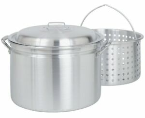 Multi Use Pot Utility Stockpot Stainless Steel Boil Stew Deep Fry Can Basket 24