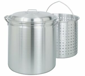 Multi Use Pot Utility Stockpot Stainless Steel Boil Stew Deep Fry Can Basket 42