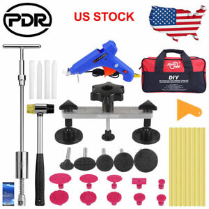 Us Pdr Dent Repair Tools Painless Dent Hail Removal Slide Hammer Pulling Bridge