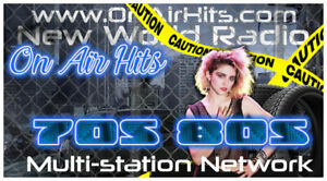 Internet Radio Station Broadcasting Net On Air Hits Domain Name Live Streaming