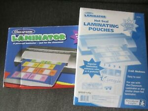 Educational Insights Classroom Hot And Cold Laminator And 100 Pouches New