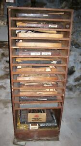 Huge Estate Lot Metal Letterpress Printers Letters Type Set Cabinet Local Pu Ny