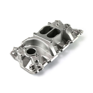 Polished Dual Plane Aluminum Intake Manifold For 1957 1995 Checrolet Sbc 305 350