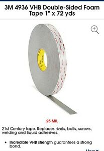 3m4936 1 x72 Vhb Double Sided Tape Uline S 10143 New Pluss 3 Free Open Rolls