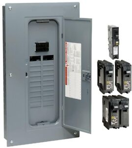Load Center 100 Amp 20 space 40 circuit Indoor Main Breaker Plug on Neutral