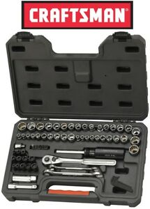 Craftsman 67 Piece Mechanics Tool Set Sae Inch Metric Socket Wrench Ratchet Case