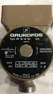Grundfos Up15 18su 230v Hot Water Circulation Pump