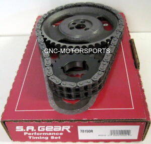 Engine Timing Set S a Gear 78150r Sb Chevy 350 Double Roller Factory Roller Cam