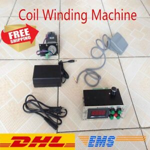 New Electric Coil Winding Machine Transformer Winder 2 directions Foot Pedal