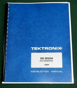 Tektronix Dg2020a User Manual Comb Bound Protective Covers