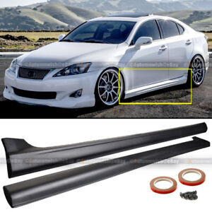 Fit 06 12 Lexus Is250 Is350 Sport Style Unpainted Side Skirt Body Kit Extensions