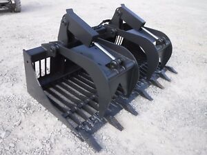 Bobcat Skid Steer Attachment 72 Rock Bucket Grapple With Teeth Ship 149