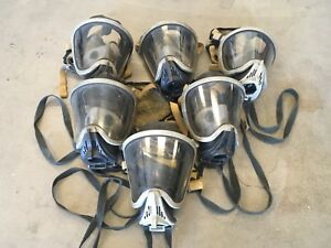 Msa Ultra Elite Facepiece Firefighter Respirator Scba Mask Sz Medium