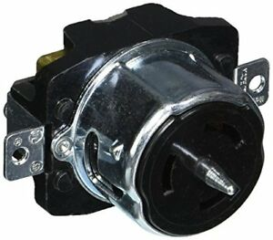 Hubbell Cs6370 Locking Receptacle 50 Amp 125v 2 Pole And 3 Wire