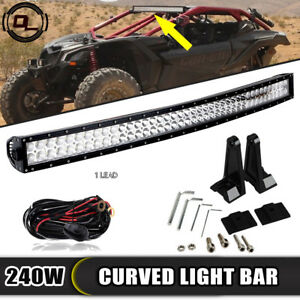 Fit Can am Maverick X3 Commander 1000 800 42 Light Bar Upper Roof Curved Combo