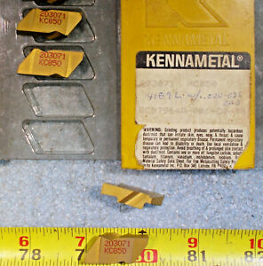 New Kennametal 203071 Kc850 Lh Top Notch Indexable Insert 3 16 Wide 4 Pieces