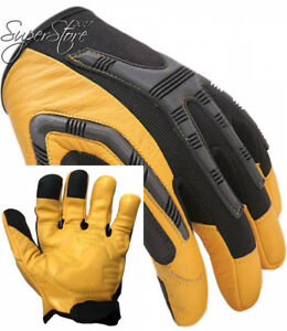 Leather Work Gloves Heavy duty Water resistant Palm Comfortable Industrial