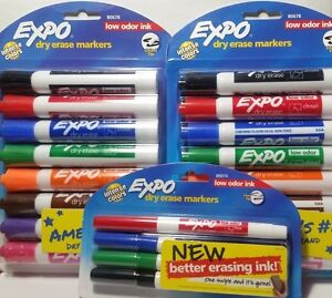 Expo Dry Erase Markers 4 8ct Chisel Tip 2 4ct Fine Tip Assorted Colors Low Odor