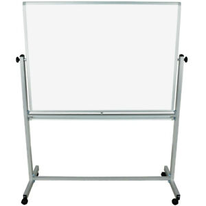 Luxor L340 48 X 36 Reversible Double sided Rolling Magnetic Whiteboard New