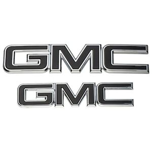Oem New Grille And Tailgate Gmc Emblems Black Chrome 15 19 Sierra 84395038