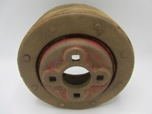 Original Farmall Tractor Ih Ihc Paper Belt Pulley Square Mount Holes 8 5 X 3 5
