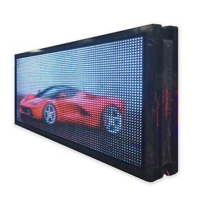 Olive Led Sign Smd Fc 19 x38 Programmable Scrolling Message Indoor Display