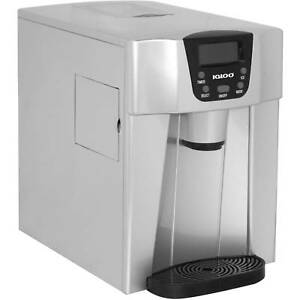 New Igloo Countertop 26lbs Ice And Water Dispenser Silver