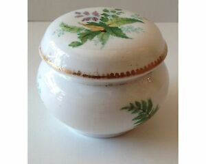 Possibly Spode Antique Early 19thc English Hand Painted Porcelain Dresser Box
