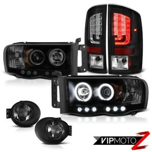 2003 2005 Dodge Ram 2500 Ws Black Tail Lights Smoked Fog Lamps Headlamps Newest
