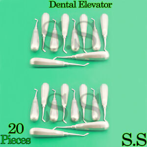 20 Dental Tooth Surgery Right Flat Pointed Elevator 191 Dental Instruments