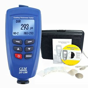Cem Paint Coating Thickness Meter Gauge 1250um 49 2mils With Usb