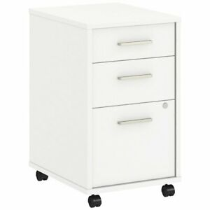 Bbf Method By Kathy Ireland Mobile File Cabinet Assembled In White