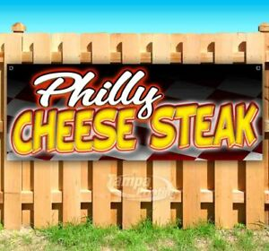 Philly Cheese Steak Advertising Vinyl Banner Flag Sign Many Sizes Carnival Food