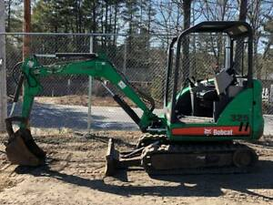 2007 Bobcat 325g Mini Excavator Rubber Tracks Aux Hyd Backfill Blade