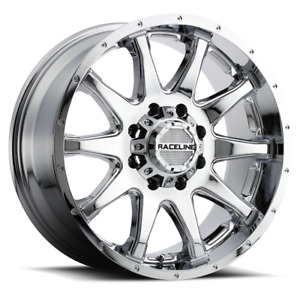Set 4 18x9 18 8x180 Raceline Shift Chrome Wheels rims 18 inch 47405
