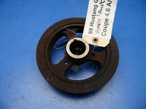 95 98 Ford Mustang Oem Engine Motor Crankshaft Crank Shaft Pulley Gt 4 6