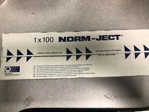 Lot Of 100 Box Norm ject 2 Ml Single Use Plastic Syringe luer Slip