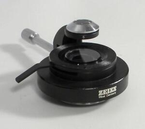 Zeiss Flip Out Swing lens Condenser From Axioskop 50 Microscope