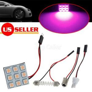 4x Pink Purple Led Panel Lights Interior Dome Map Auto Led Accessories 12v