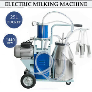 Cow Milker Electric Piston Milking Machine For Cows Farm Bucket usa By Fedex