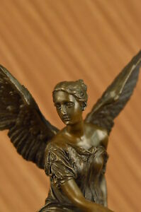 Winged Victory Athena Nike Paris Louvre Bronze Marble Statue Sculpture Art Deco