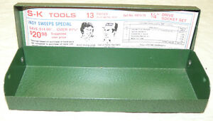 Vintage S k Tools Socket Set 4913 79 Case Empty Metal indy Set Inv13175